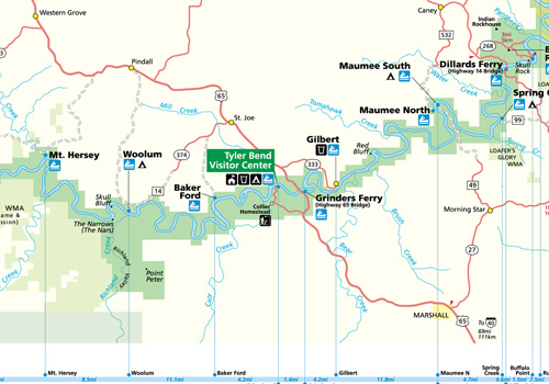 Buffalo River Maps   Buffalo River – National Park Region